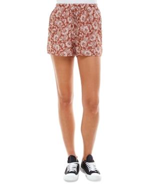 Juniors' Floral-Printed Shorts