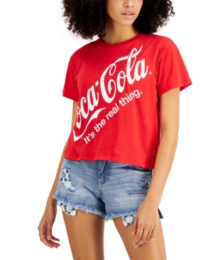 Juniors' Coca-Cola Cropped T-Shirt