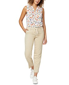 Relaxed Trouser Pants in Stretch Twill
