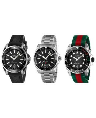 Unisex Swiss Diver White Rubber Strap Watch 40mm
