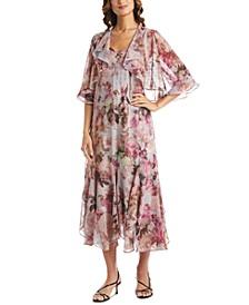 Petite 2-Pc. Floral-Print Dress & Jacket