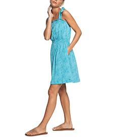 Juniors' Low Tide Cotton Strappy Dress