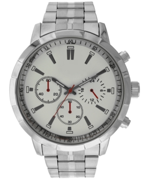 INC INTERNATIONAL CONCEPTS INC MEN'S WHITE BRACELET WATCH 50MM, CREATED FOR MACY'S