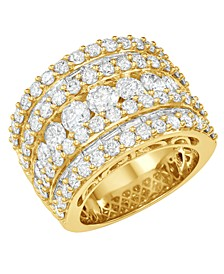 Diamond Five Row Band (5 ct. t.w.) in 14k White, Yellow or Rose Gold