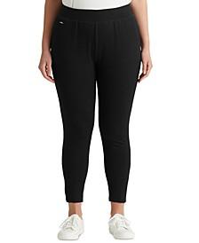 Plus Size Jersey Ankle Pants