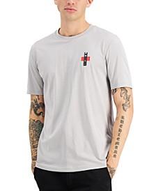 Men's Durtoise Bamboo-Logo Gray T-Shirt, Created for Macy's