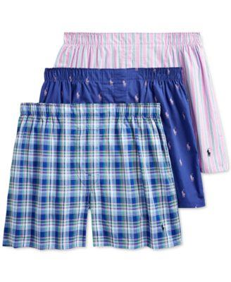 폴로 랄프로렌 Polo Ralph Lauren Mens 3-Pack Woven Boxers