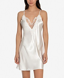Heather Bridal Charmeuse Chemise Nightgown