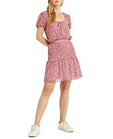 Tiered Printed Skirt