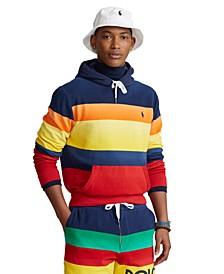 Men's Striped Fleece Hoodie
