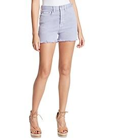 Infinite Frayed Denim Shorts