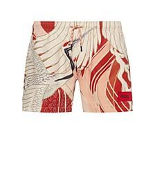 Men's Miso Swim Shorts with Crane Print