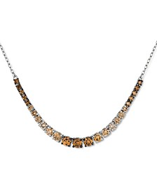 """Chocolate Ombré Diamond 18"""" Statement Necklace (2 ct. t.w.) in 14k White Gold"""