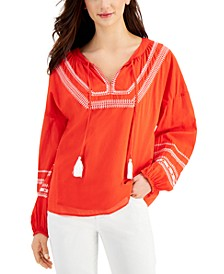 Embroidered Peasant Top, Created for Macy's