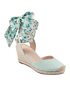 Nettie Feminine Espadrille Wedge Sandals