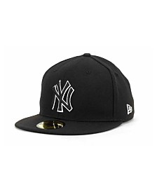New Era New York Yankees Black and White Fashion 59FIFTY Cap