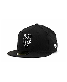 New York Mets Black and White Fashion 59FIFTY Cap