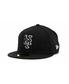 New Era New York Mets Black and White Fashion 59FIFTY Cap