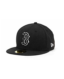 Boston Red Sox Black and White Fashion 59FIFTY Cap