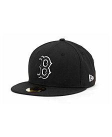 New Era Boston Red Sox Black and White Fashion 59FIFTY Cap