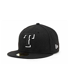 Texas Rangers Black and White Fashion 59FIFTY Cap