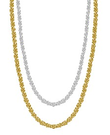 Rope Link Chains in Gold or Fine Silver Plate