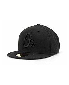 New Era Baltimore Orioles Black on Black Fashion 59FIFTY Cap