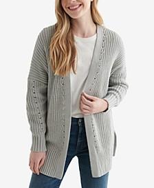 Women's Textured Open-Front Cardigan