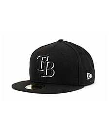 New Era Tampa Bay Rays Black and White Fashion 59FIFTY Cap