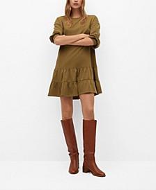 Women's Fluted Hem Dress