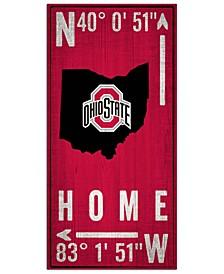 "Fan Creations Ohio State Buckeyes Coordinates 6"" x 12"" Sign"