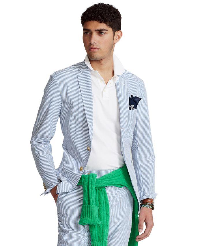 Polo Ralph Lauren Men's Seersucker Suit Jacket & Reviews - Coats & Jackets - Men - Macy's