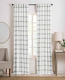 "Farmhouse Living Double Windowpane Plaid Room Darkening Window Curtain Panel, 52"" x 84"""