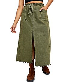 Woke Up Like This Cotton Maxi Skirt