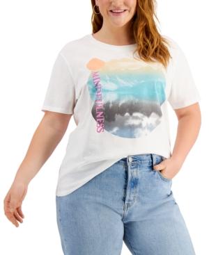 Plus Size Mindfulness Graphic T-Shirt
