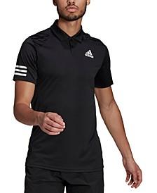 Men's Aeroready Tennis Club 3-Stripes Polo Shirt