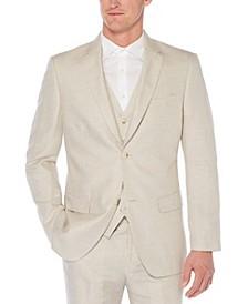Men's Big and Tall Linen Cotton Herringbone Suit Jacket