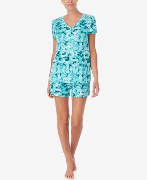 Short Sleeve T-Shirt & Printed Shorts Pajama Set