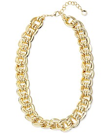 """Gold-Tone Large Chain Link Collar Necklace, 18-1/4"""" + 2"""" extender, Created for Macy's"""