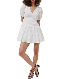 Cotton Puff-Sleeve Dress