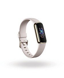 Luxe Fitness Tracker in Soft Gold with Lunar White Wrist Band