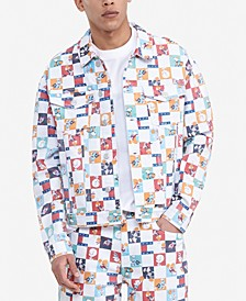 Tommy Hilfiger Men's Space Jam: A New Legacy x Tommy Jeans Checkerboard Trucker Jacket