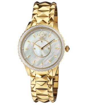 Women's Siena Swiss Quartz Ion Plating Gold-Tone Bracelet Watch 38mm