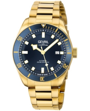 Men's Yorkville Swiss Automatic Ion Plating Gold-Tone Stainless Steel Bracelet Watch 43mm