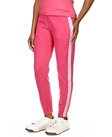 Petite Logo-Stripe Jogger Pants