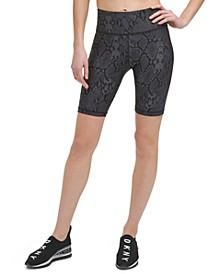 Sport Women's Snake-Embossed Bike Shorts