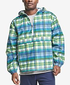 Men's Packable Printed 1/4-Zip Hooded Windbreaker