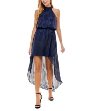 Juniors' Blouson High-Low Dress