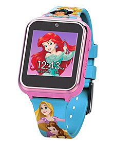 Disney Princess Kid's Touch Screen Pink Silicone Strap Smart Watch, 46mm x 41mm