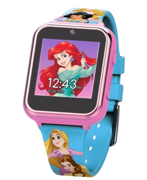 Disney Princess Kid's Touch Screen Pink Silicone Strap Smart Watch